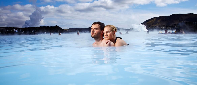 Blå Lagunen på Island.
