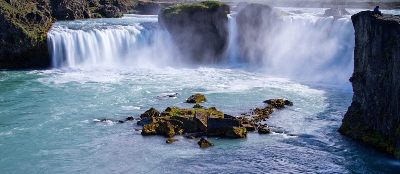 Godafoss vattenfall, norra Island