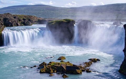 Godafoss vattenfall på norra Island