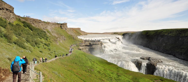 Gullfoss vattenfall på Island