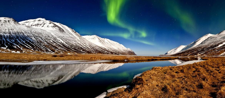 Norrsken på Island.