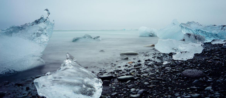 Jökulsárlón glaciärlagun, södra Island