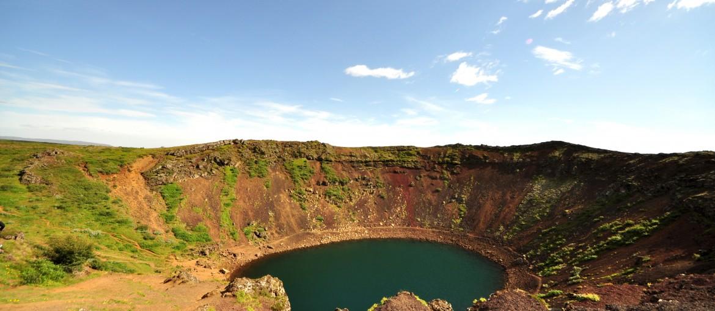 Vulkankratern Kerið på Island