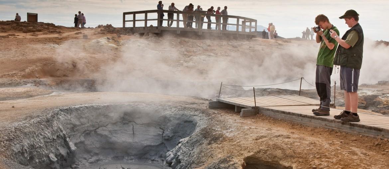 Namaskard heta svavelkällor på norra Island.