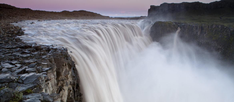 Dettifoss vattenfall på Island