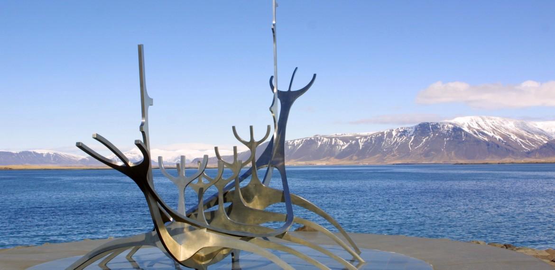 Sun Voyager, skulptur i Reykjavik på Island