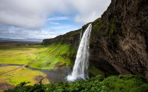 Seljalandsfoss vattenfall på södra Island