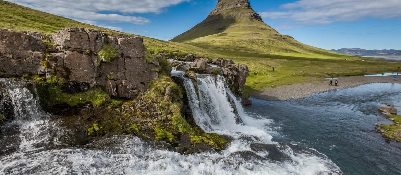 Kirkjufellsfoss på Snaefellsnes på Island