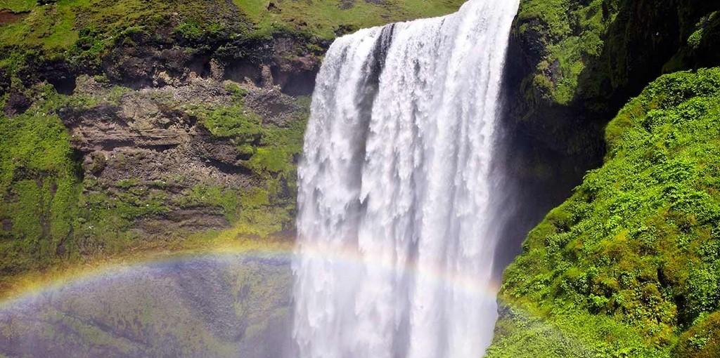 Skogafoss vattenfall på södra Island