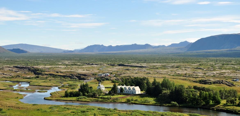 Thingvellir nationalpark på Island.