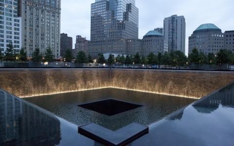 9/11 Memorial vid Ground Zero, New York, USA