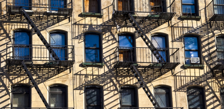 Husvägg i New York, USA