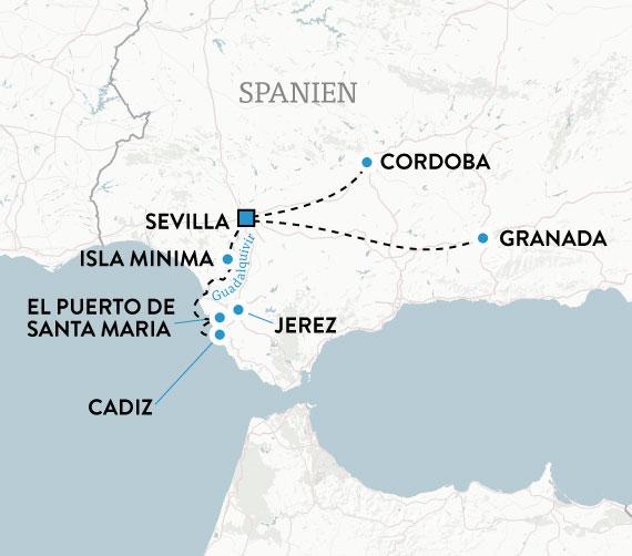Karta Spanien Granada.Flodkryssning Andalusien Resa Med Svensk Fardledare Escape Travel