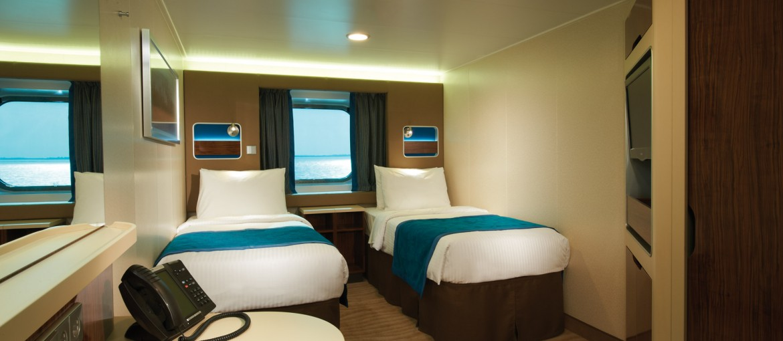 Utsideshytt ombord på Norwegian Getaway