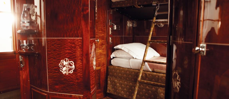 Kupé ombord på Orientexpressen
