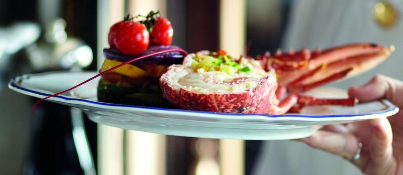 Gourmetmåltid på Orientexpressen