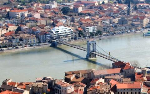 Vy över Lyon, Frankrike