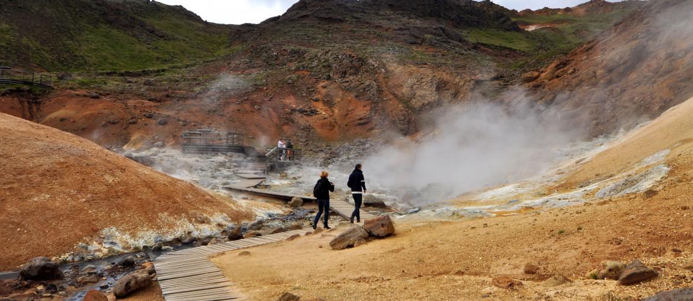Krysuvik heta källor, Reykjaneshalvön på Island