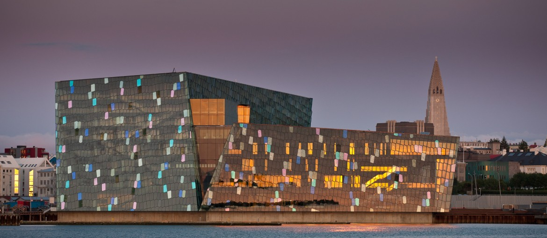 Harpa, konsert- och konferensanläggning i Reykjavik, Island