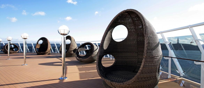 Soldäck ombord på MSC Fantasia