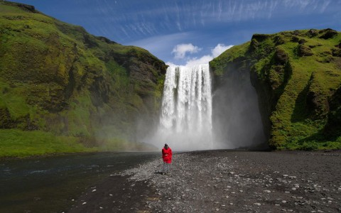 Skogafoss vattenfall, Island