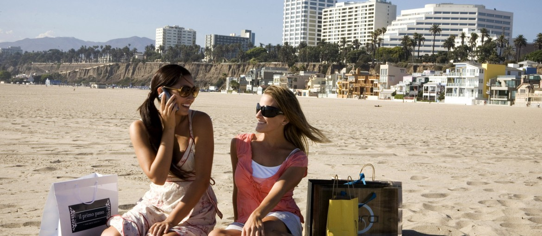 Strandliv i San Diego, USA
