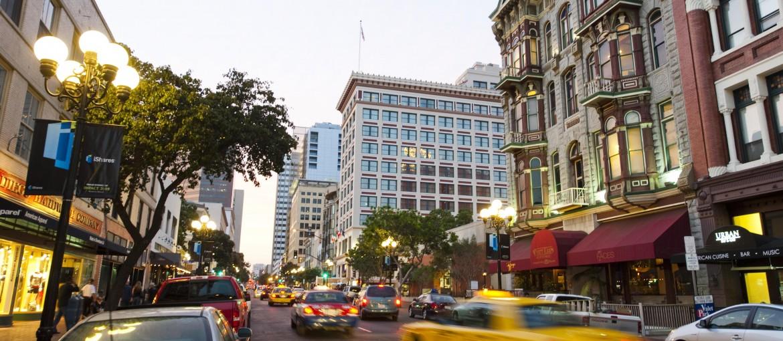 Gaslamp Quarter i San Diego, Kalifornien, USA