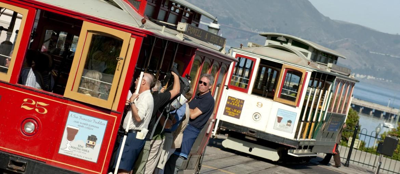 San Franciscos berömda spårvagnar