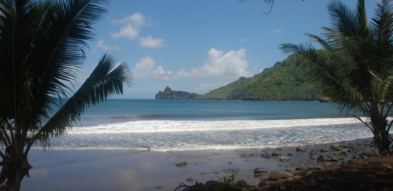 Strand på kryssning i Franska Polynesien med Aranui