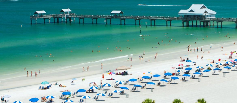 Clearwater Beach Pier i Florida, USA