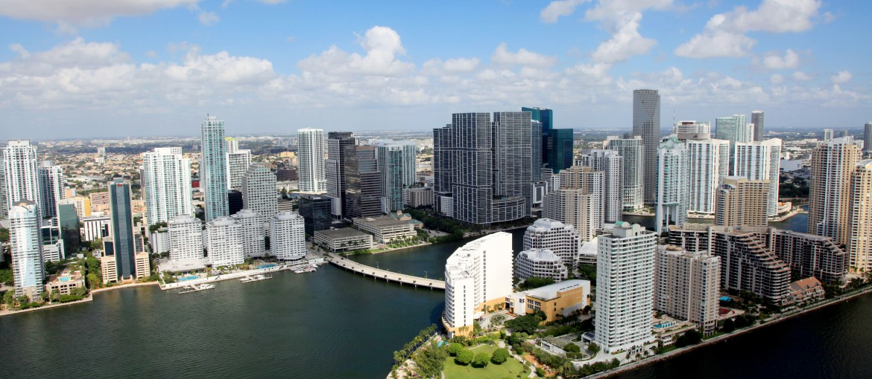 Miami från ovan, USA