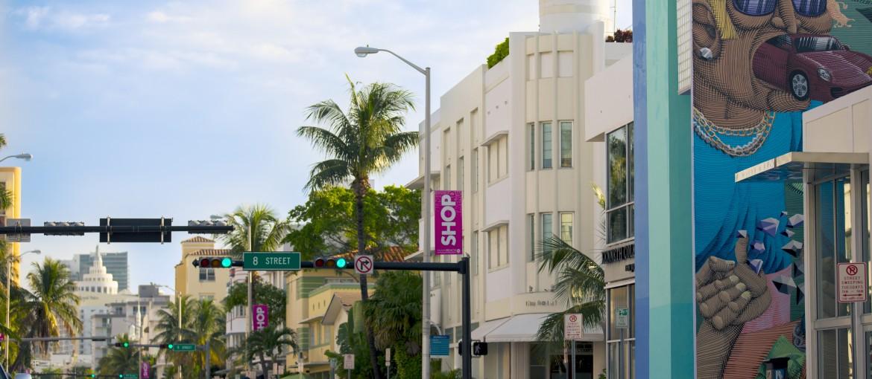 Gatukonst i South Beach i Miami, Florida,USA