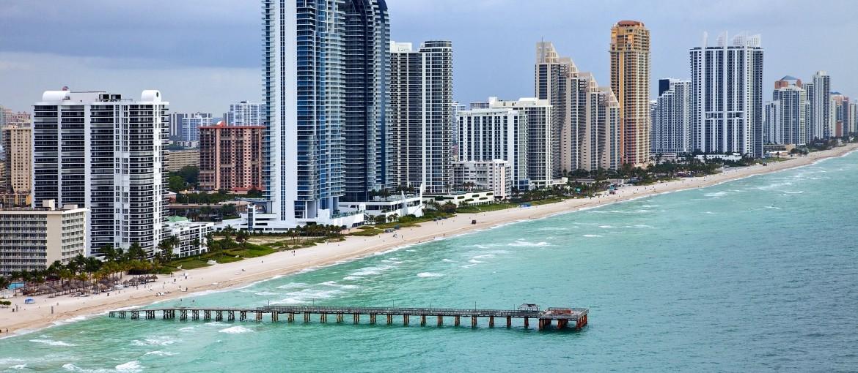 Sunny Isles Beach i Miami, Florida, USA