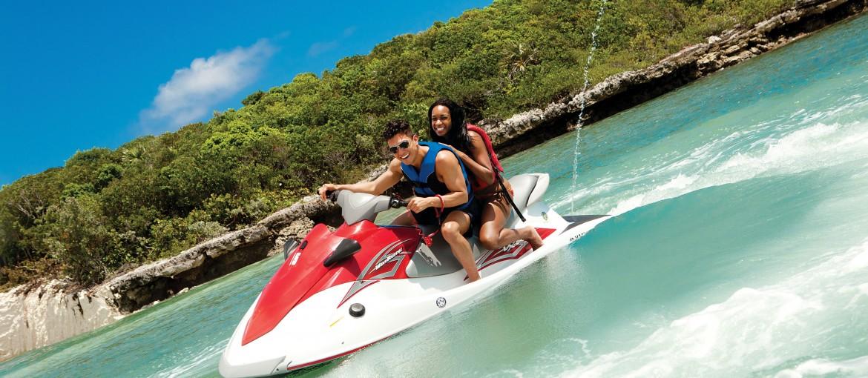 Jetski på Great Stirrup Cay, Bahamas