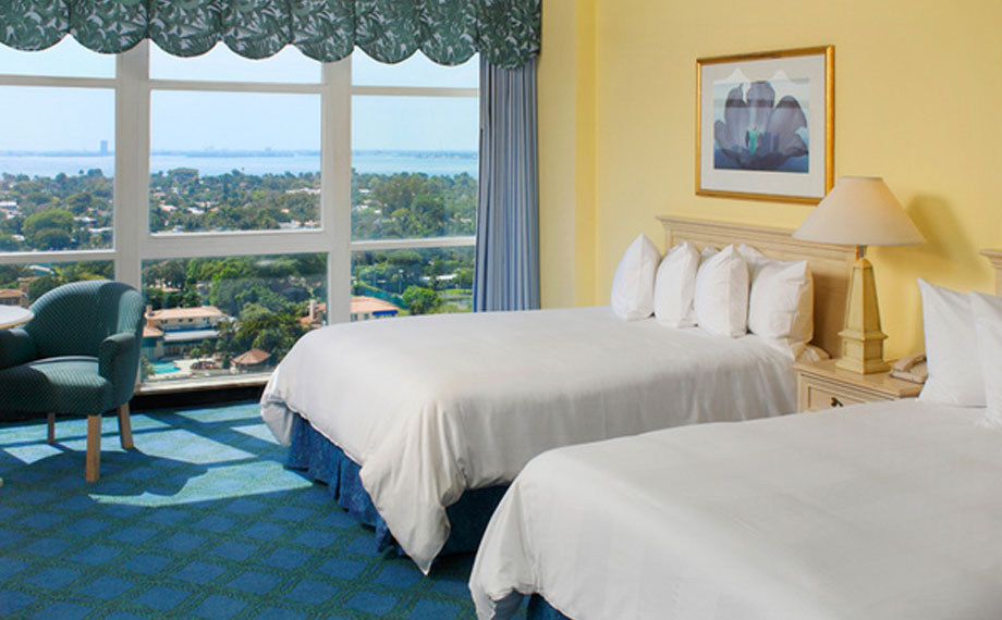 Rum på Miami Beach Resort i Florida, USA.