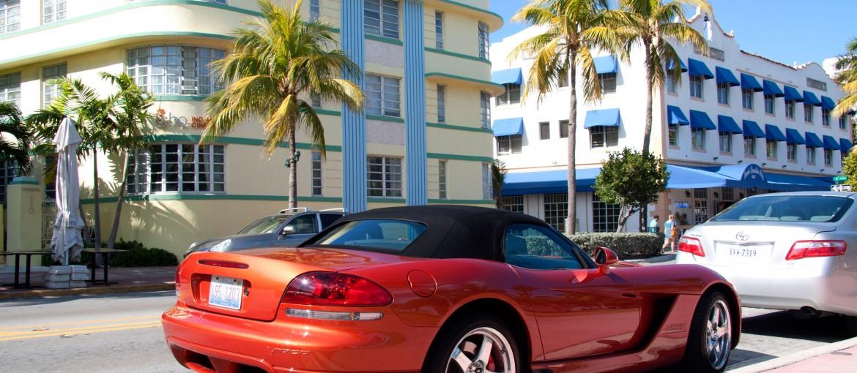 Gatuvy i Miami, Florida, USA