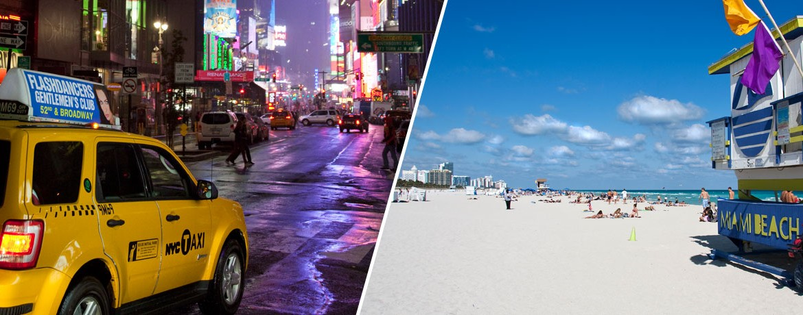 Kombinera New York och Miami på resan