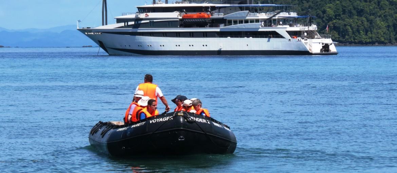 Variety Cruises transferbåt till land