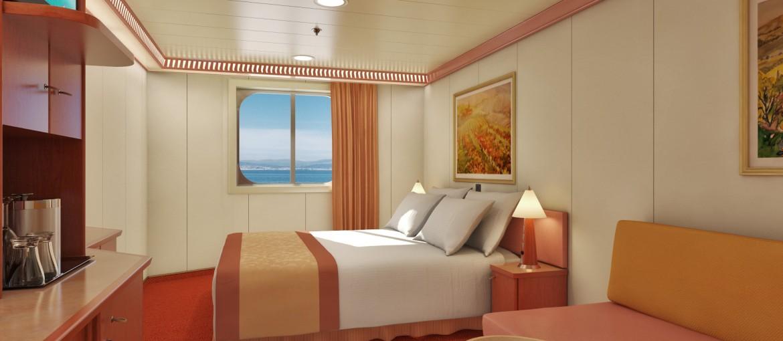 Utsideshytt på Carnival Cruise Lines fartyg i Conquest-klassen
