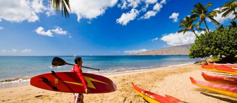 Surfa i Hawaii, USA