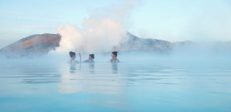 Avkoppling i Blå Lagunen på Island