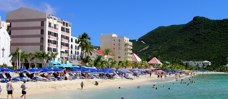 Philipsburg på St. Maarten i Karibien