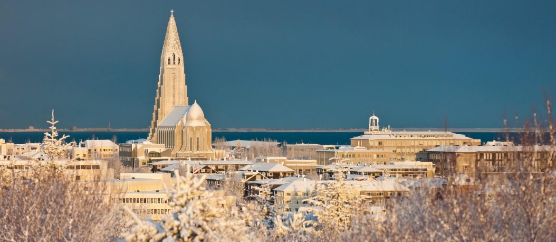 Vinter i Reykjavik på Island