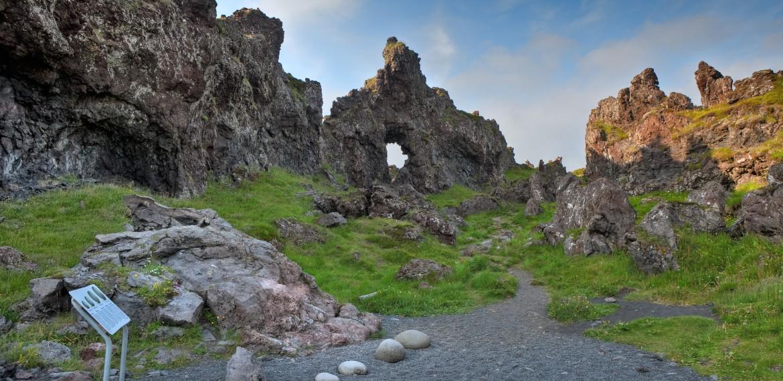 Snaefellsneshalvön, västra Island