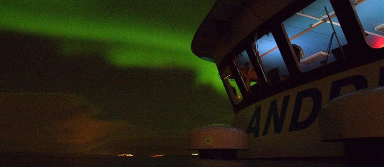 Norrskenstur med båt från Reykjavik