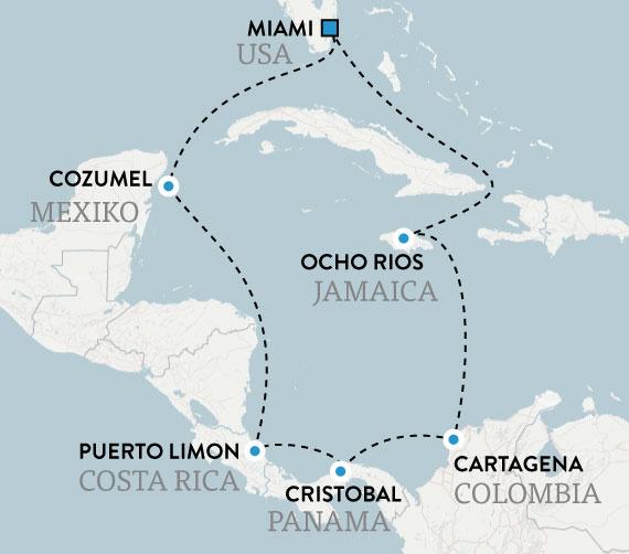 kryssning karibien 2020