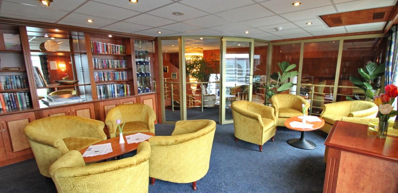 Lounge ombord på MS River Navigator