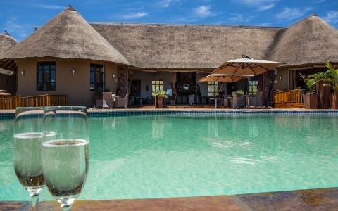 Pool på Sebatana Rhino Lodge, Sydafrika