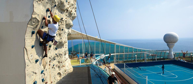 Klättervägg ombord Royal Caribbean
