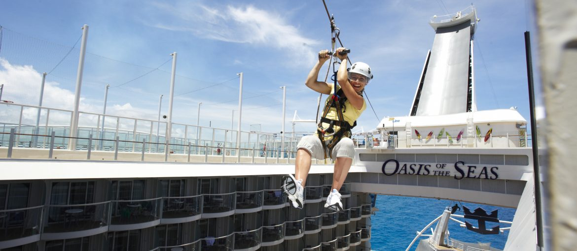 Zipline ombord Oasis of the Seas
